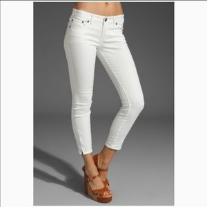 Free People Cropped Zipper Ankle Skinny Jeans